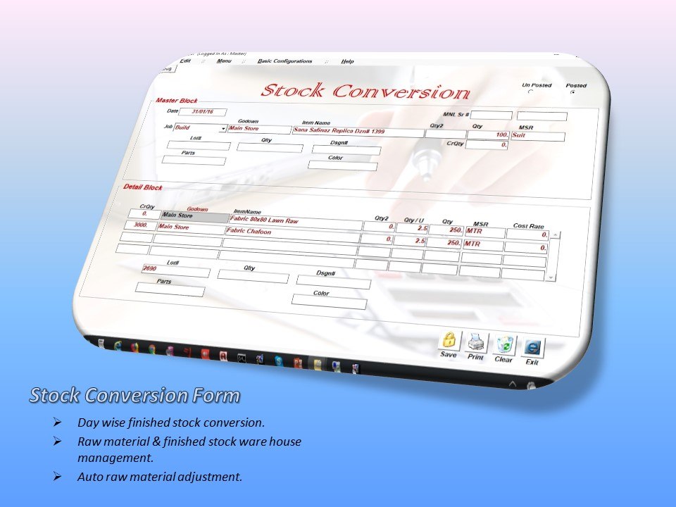 Stock Conversion Form